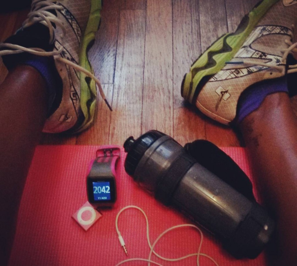 Retour d'entraînement : étirement et renfo