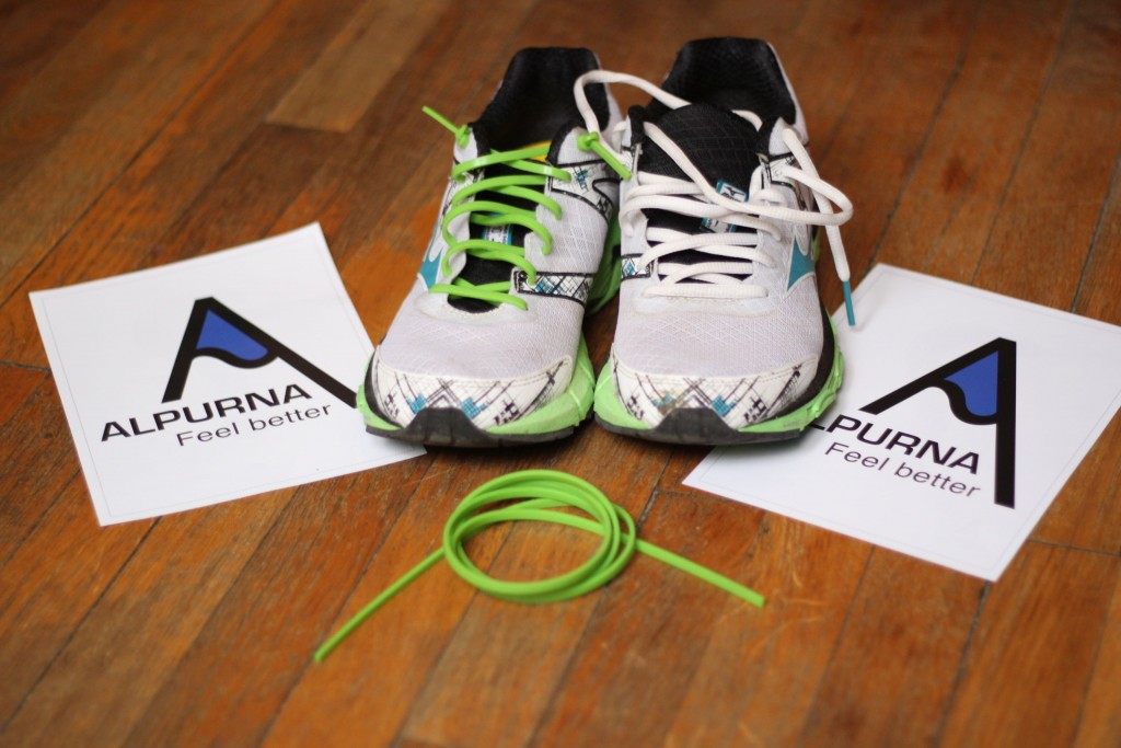 Salon du running - lacets Alpurna
