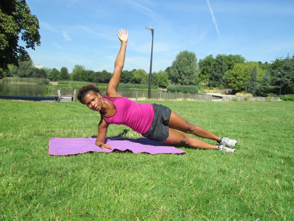 Gainage - planche latérale, bras tendu