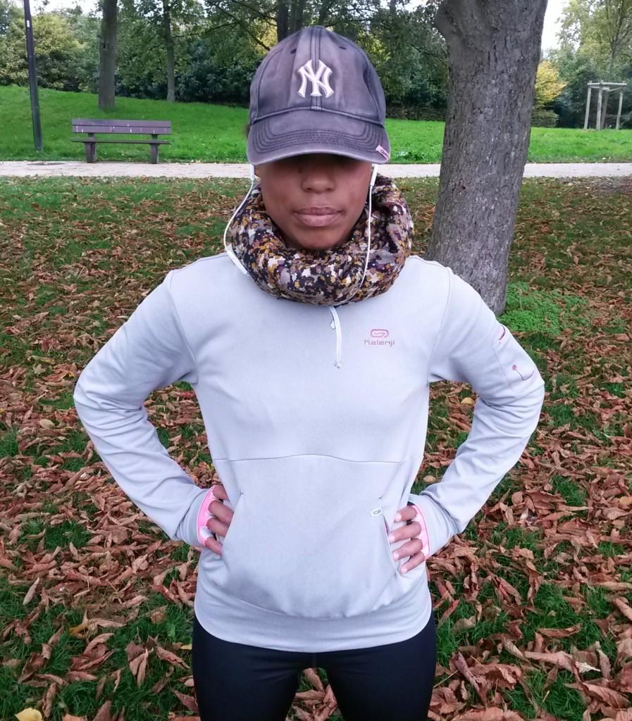 Courir en automne - la casquette