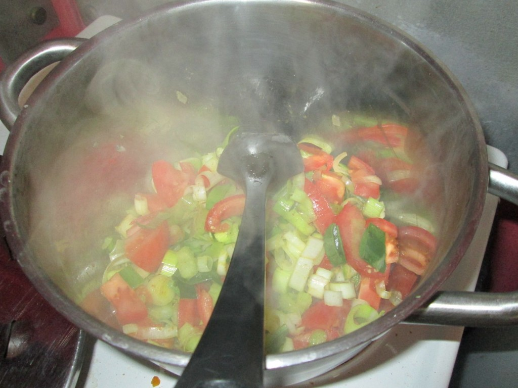 Soupe aux 7 légumes - Etape 1