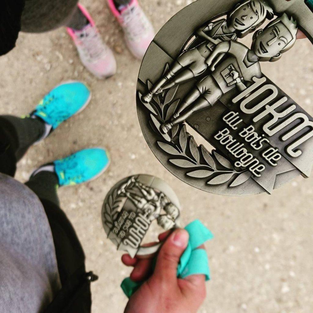 Bilan sportif mars-avril 2017 - Médaille du 10km du Bois de Boulogne