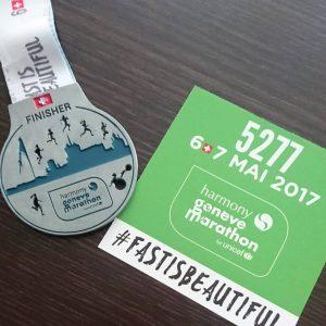 Bilan avant la rentrée - La médaille du semi-marathon de Genève