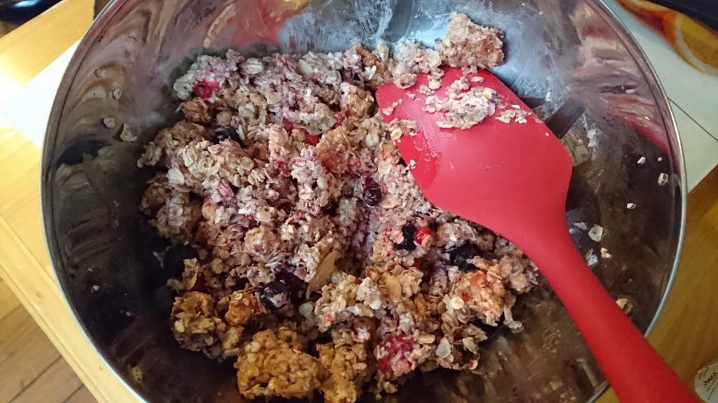 Mes barres de céréales maison - le mélange