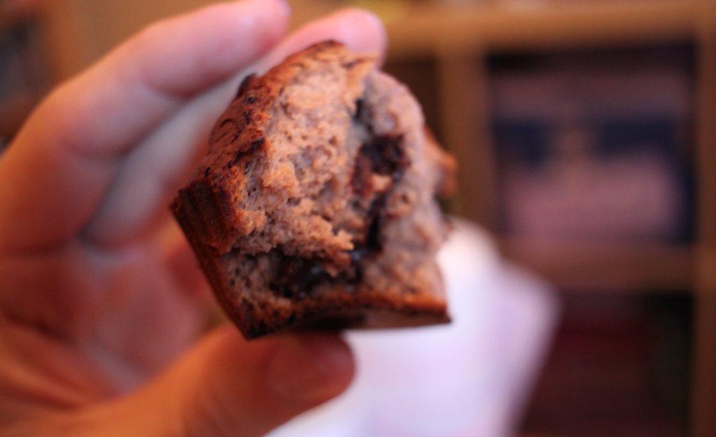 Recette : muffin à la farine de châtaigne et chocolat