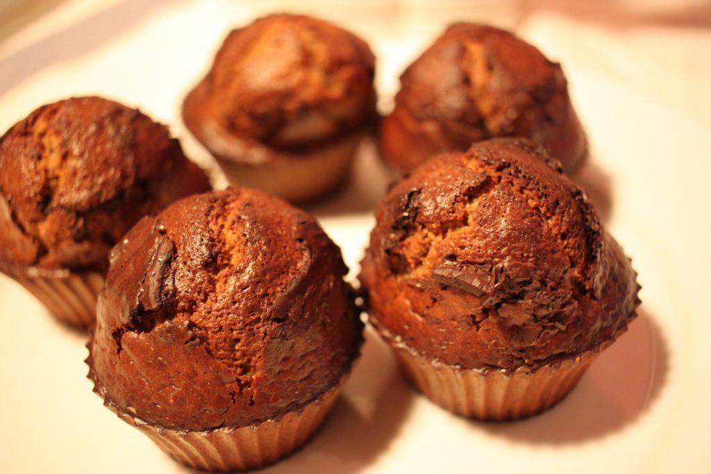 Recette : muffins à la farine de châtaigne et chocolat