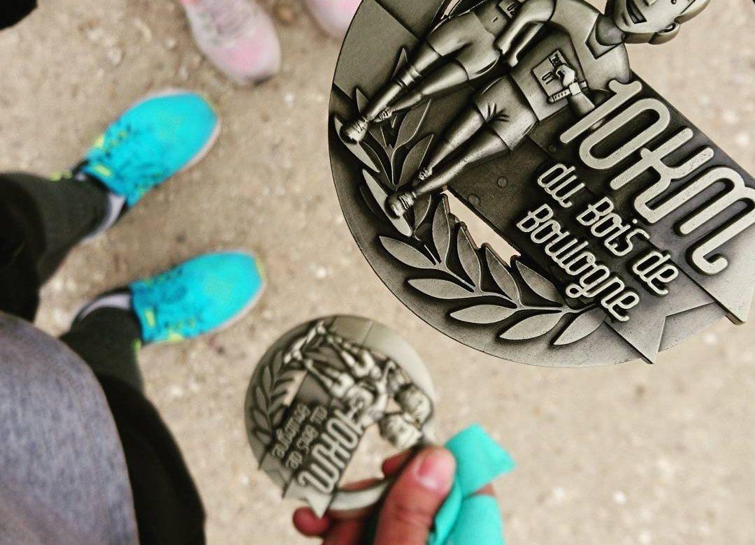 Médaille du 10km du Bois de Boulogne